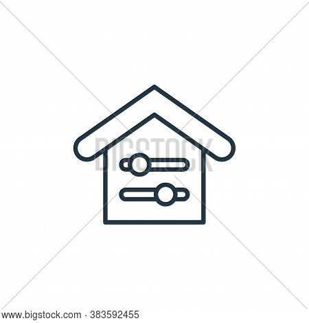 adjustment icon isolated on white background from smarthome collection. adjustment icon trendy and m