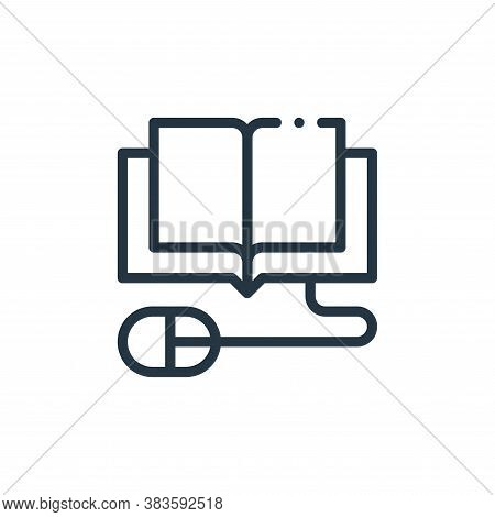 elearning icon isolated on white background from books collection. elearning icon trendy and modern