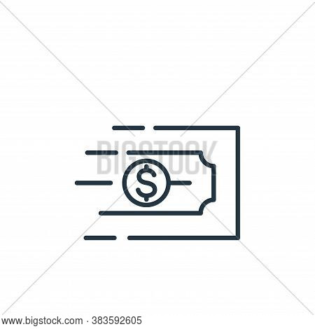 money transfer icon isolated on white background from finance collection. money transfer icon trendy