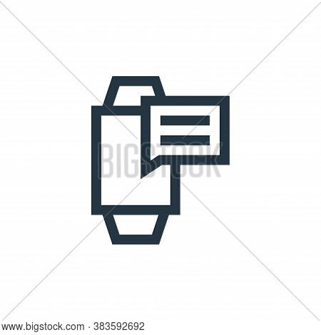 message icon isolated on white background from message collection. message icon trendy and modern me