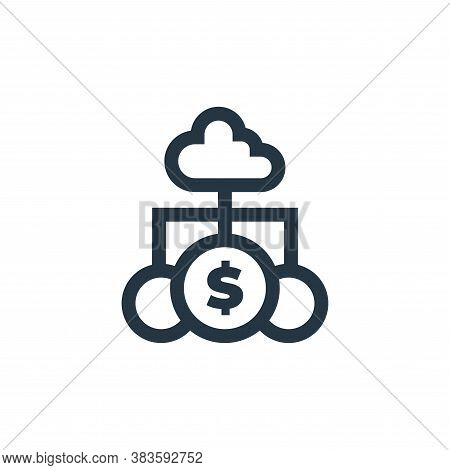 cloud banking icon isolated on white background from economy collection. cloud banking icon trendy a