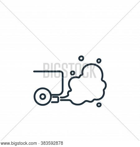 pollution icon isolated on white background from air pollution collection. pollution icon trendy and