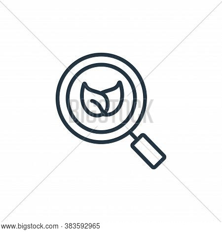 organic search icon isolated on white background from seo and website collection. organic search ico