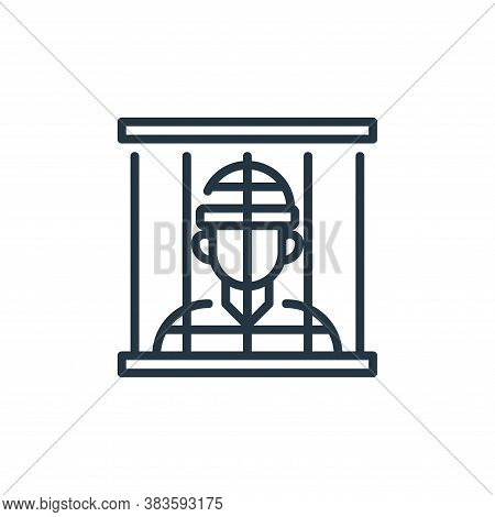 jail icon isolated on white background from law and justice collection. jail icon trendy and modern