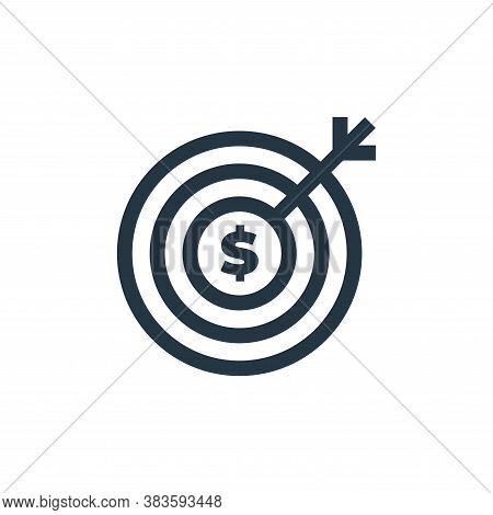 target icon isolated on white background from economy collection. target icon trendy and modern targ