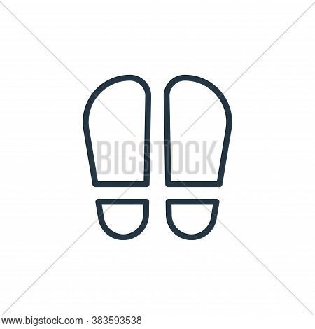 footprint icon isolated on white background from crime collection. footprint icon trendy and modern