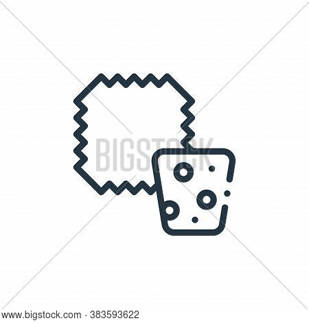Cork icon isolated on white background from fabric features collection. Cork icon trendy and modern