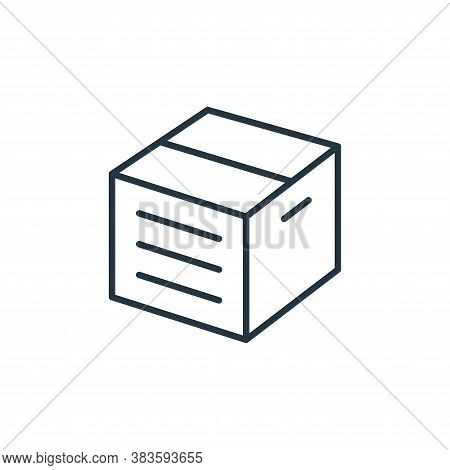 box icon isolated on white background from e commerce collection. box icon trendy and modern box sym