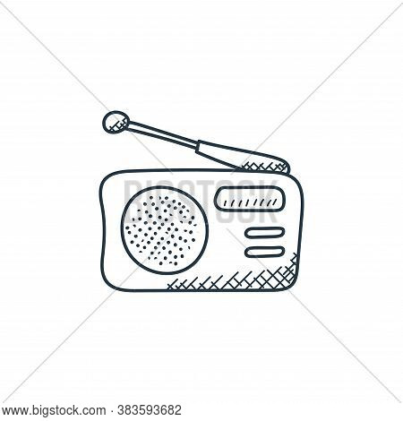 radio icon isolated on white background from music collection. radio icon trendy and modern radio sy