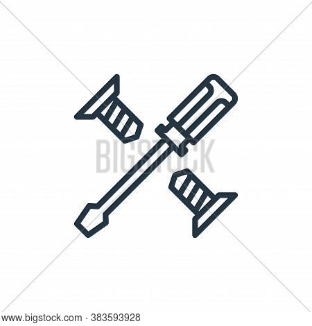 screwdriver icon isolated on white background from labour day collection. screwdriver icon trendy an