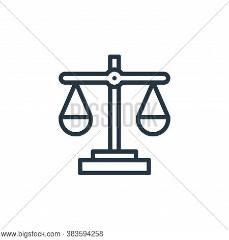 justice icon isolated on white background from crime collection. justice icon trendy and modern just