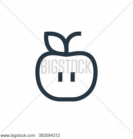 apple icon isolated on white background from education collection. apple icon trendy and modern appl
