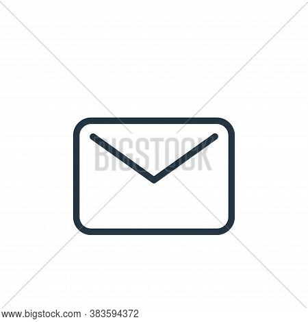 email icon isolated on white background from seo collection. email icon trendy and modern email symb