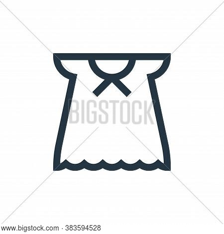 long dress icon isolated on white background from baby shower collection. long dress icon trendy and