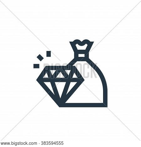 diamond icon isolated on white background from economy collection. diamond icon trendy and modern di