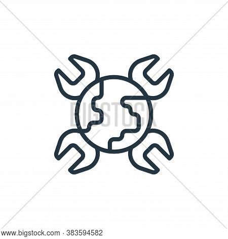 world icon isolated on white background from labour day collection. world icon trendy and modern wor