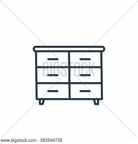 drawers icon isolated on white background from furniture collection. drawers icon trendy and modern