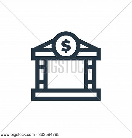 bank icon isolated on white background from economy collection. bank icon trendy and modern bank sym