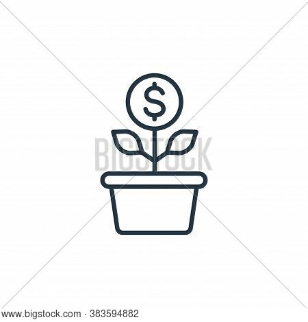 investment icon isolated on white background from finance collection. investment icon trendy and mod