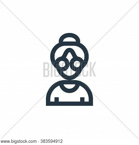 grandmother icon isolated on white background from mothers day collection. grandmother icon trendy a