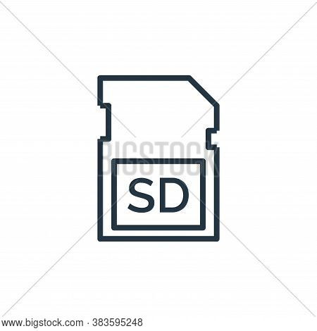 sd card icon isolated on white background from computer collection. sd card icon trendy and modern s