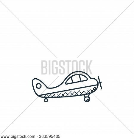 aeroplane icon isolated on white background from space and aircraft collection. aeroplane icon trend