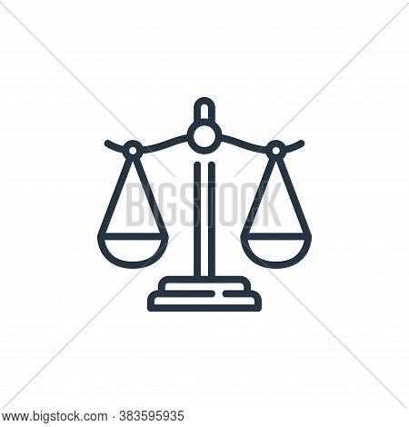 law icon isolated on white background from law and justice collection. law icon trendy and modern la