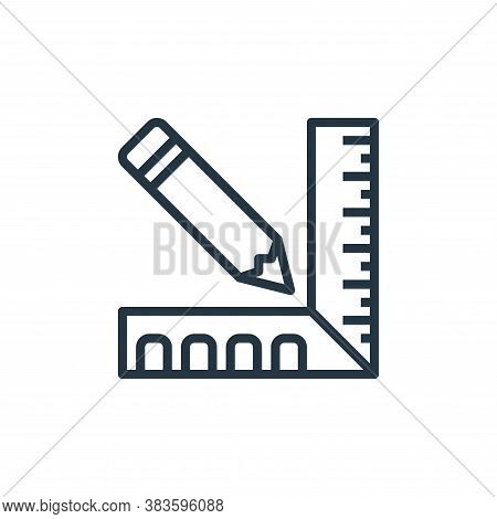 ruler icon isolated on white background from labour day collection. ruler icon trendy and modern rul