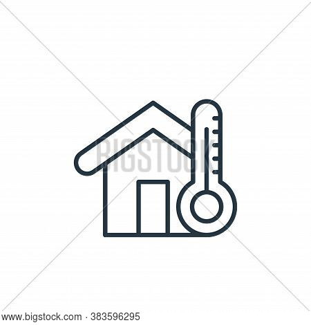 temperature control icon isolated on white background from smarthome collection. temperature control