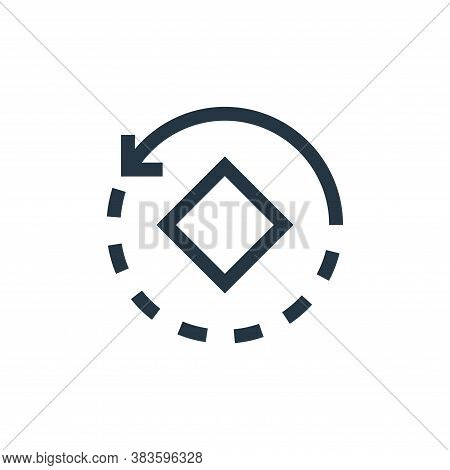 rotate icon isolated on white background from vector editing collection. rotate icon trendy and mode