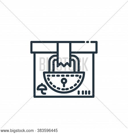lock icon isolated on white background from shipping logistics collection. lock icon trendy and mode