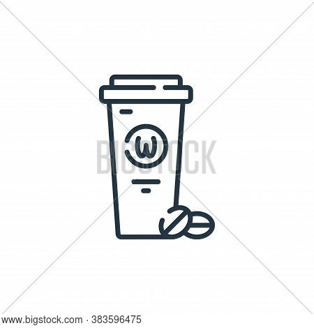 coffee cup icon isolated on white background from fast food collection. coffee cup icon trendy and m