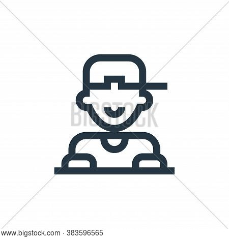 DJ icon isolated on white background from music festival collection. DJ icon trendy and modern DJ sy