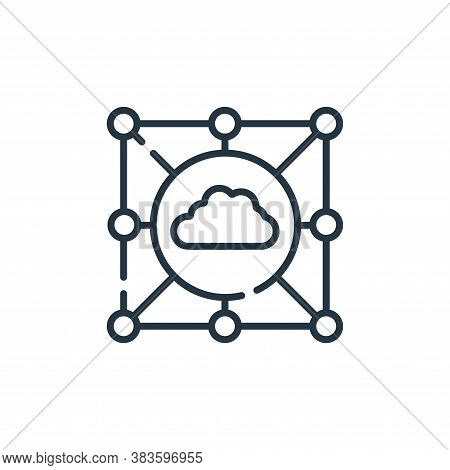 cloud icon isolated on white background from programming collection. cloud icon trendy and modern cl