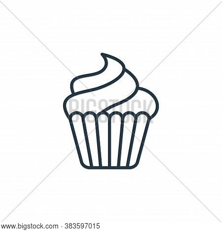 cupcake icon isolated on white background from bakery collection. cupcake icon trendy and modern cup
