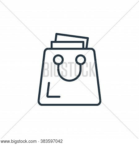 shopping bag icon isolated on white background from e commerce collection. shopping bag icon trendy