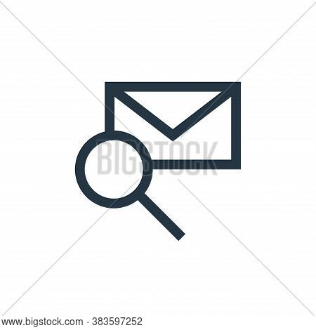 search icon isolated on white background from message collection. search icon trendy and modern sear