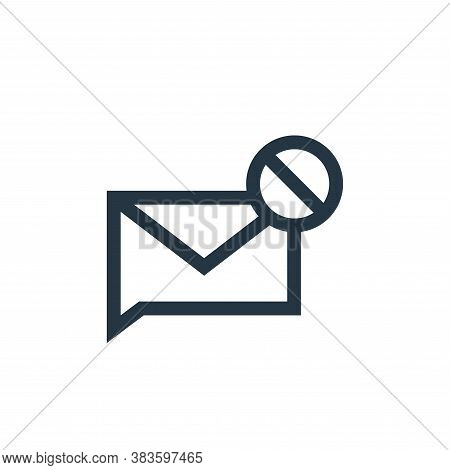 spam icon isolated on white background from message collection. spam icon trendy and modern spam sym