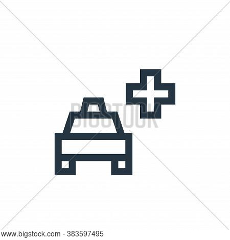 emergency icon isolated on white background from taxi service collection. emergency icon trendy and