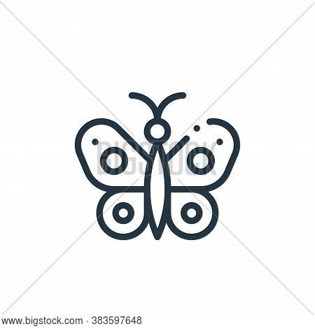 butterfly icon isolated on white background from fabric features collection. butterfly icon trendy a