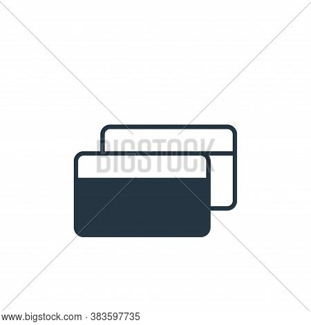 credit cards icon isolated on white background from finance collection. credit cards icon trendy and