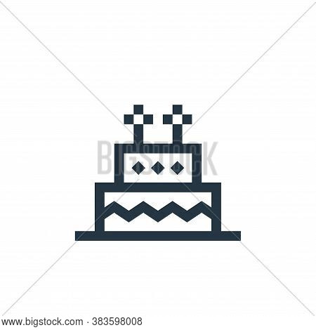 birthday cake icon isolated on white background from mothers day collection. birthday cake icon tren