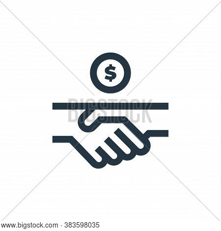 handshake icon isolated on white background from economy collection. handshake icon trendy and moder