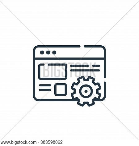 settings icon isolated on white background from programming collection. settings icon trendy and mod