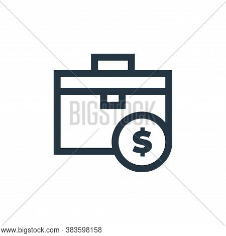 briefcase icon isolated on white background from economy collection. briefcase icon trendy and moder