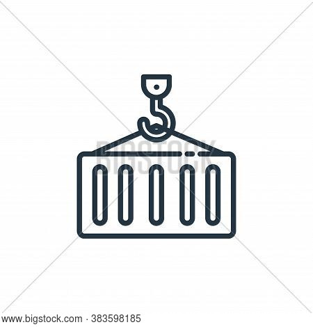 container icon isolated on white background from shipping logistics collection. container icon trend