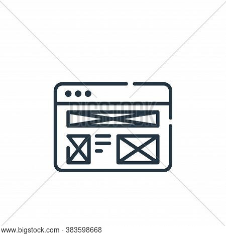 wireframe icon isolated on white background from programming collection. wireframe icon trendy and m