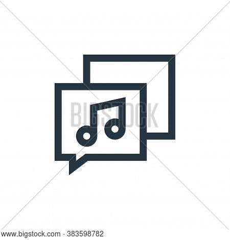 music icon isolated on white background from music festival collection. music icon trendy and modern