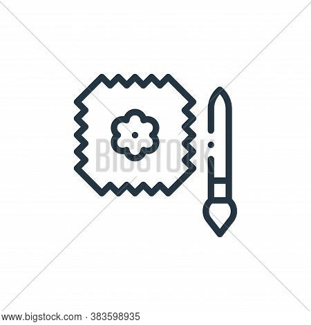 painting icon isolated on white background from fabric features collection. painting icon trendy and