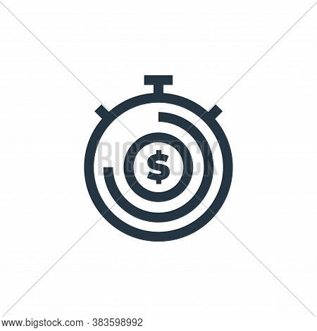 time is money icon isolated on white background from economy collection. time is money icon trendy a